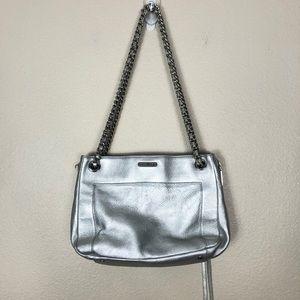 Rebecca Minkoff Swing shoulder bag silver metallic